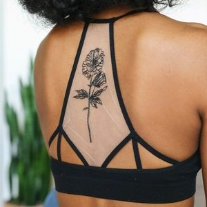 Other - Lace Bralette Bra Tattoo Sheer Mesh